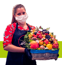 corbeille de fruits cadeau société